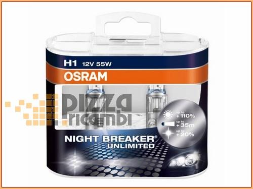 frp coppia lampadine night breaker plus h1 12v 55w osram. Black Bedroom Furniture Sets. Home Design Ideas
