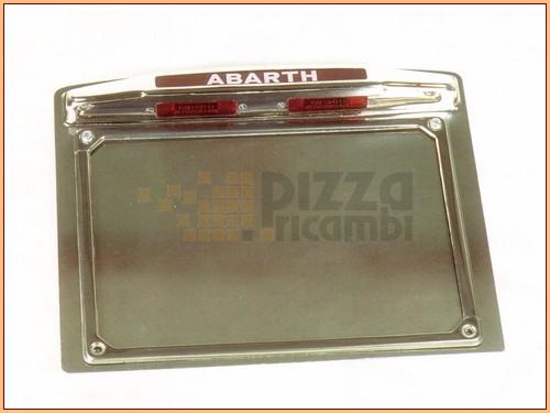 Frp Porta Targa Alluminio Fiat 500 600 Abarth Con Luce Ebay