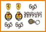 KIT FREGI BADGE FIAT 500 ABARTH 695 TRIBUTO FERRARI